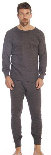 95962CharcoalL At The Buzzer Thermal Underwear Set for Men >>> You can get additional details at the image link.