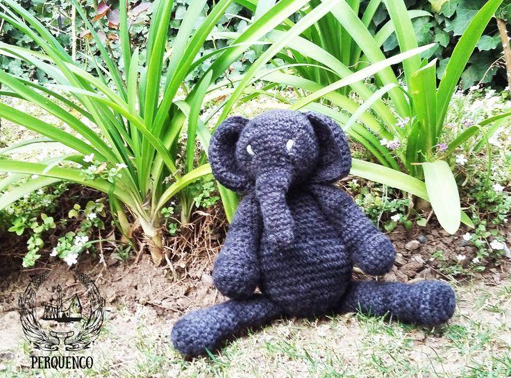 ELEFANTE GALVARINO, hecho a mano con lana cobretizada (anti ácaros, anti hongos, anti bacterias, regenerados de piel) en varios tamaños, se hacen a pedidos