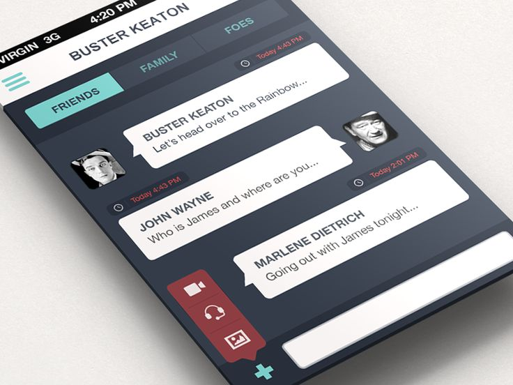 Dribbble - Chat - iPhone App by Anke Mackenthun