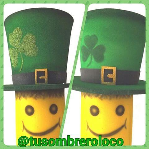 Feliz día #SanPatricio #sombrero #celebración #trébol #irlanda #evento #festejo #arteengomaespuma #TuSombreroLoco