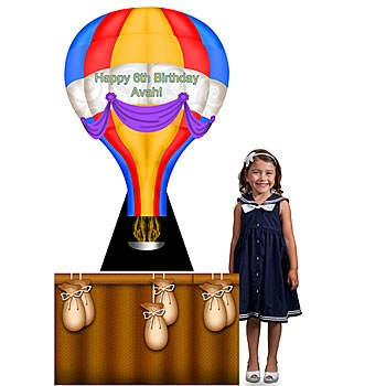 Decoration The Hot Air Balloon Standee Can Be