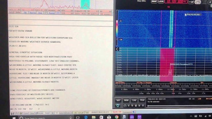 Decoding the weather from DDK2 DWD Pinneberg RTTY using Elad FDM DUO & M...