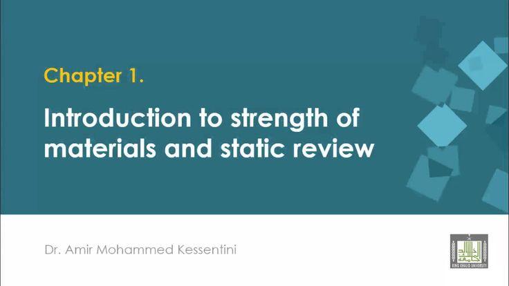 Strength of Materials الجزء الأول - مقدمة في مقاومة المواد