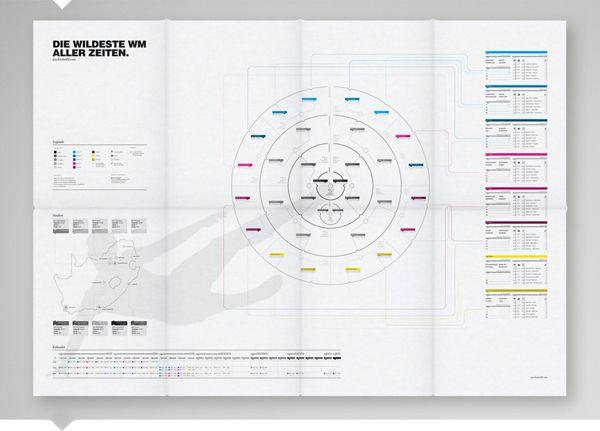 World Cup Schedule by Martin Oberhäuser, via Behance