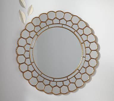 Pottery Barn - Gold Circle Blossom Mirror I NEED this mirror and it is no longer available :(