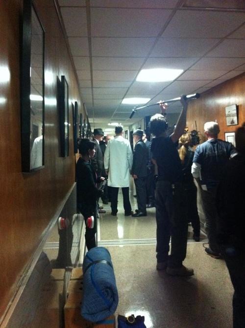 "Parkland set~ Austin, Texas ~ January 15, 2013  ""Avalanche's office turned movie studio last night as Parkland films in #ATX"""