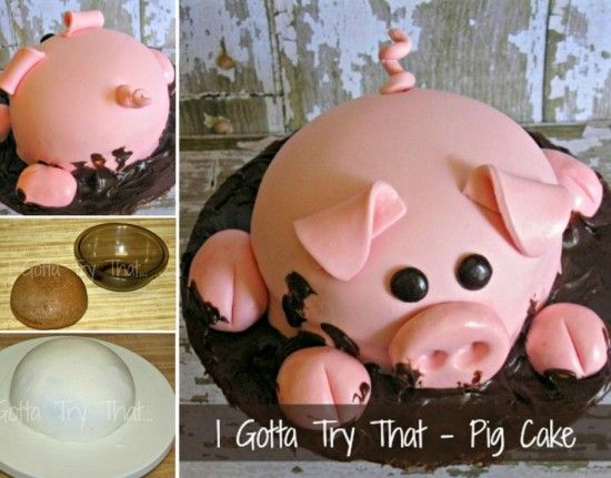 adorable Pig Cake #food #cake