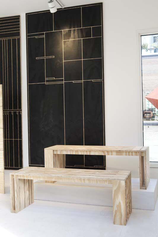 KARWEI | Goed idee nummer 9 om zelf te maken van underlayment: bankjes. #DDW14 #karwei #diy