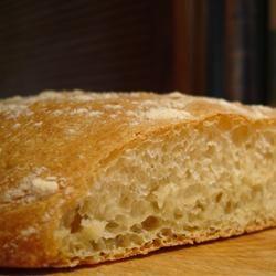 Ciabatta Bread in bread machine on dough cycle
