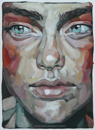 Acrylic Paintings of Faces | Belinda Eaton – Paintings Blog