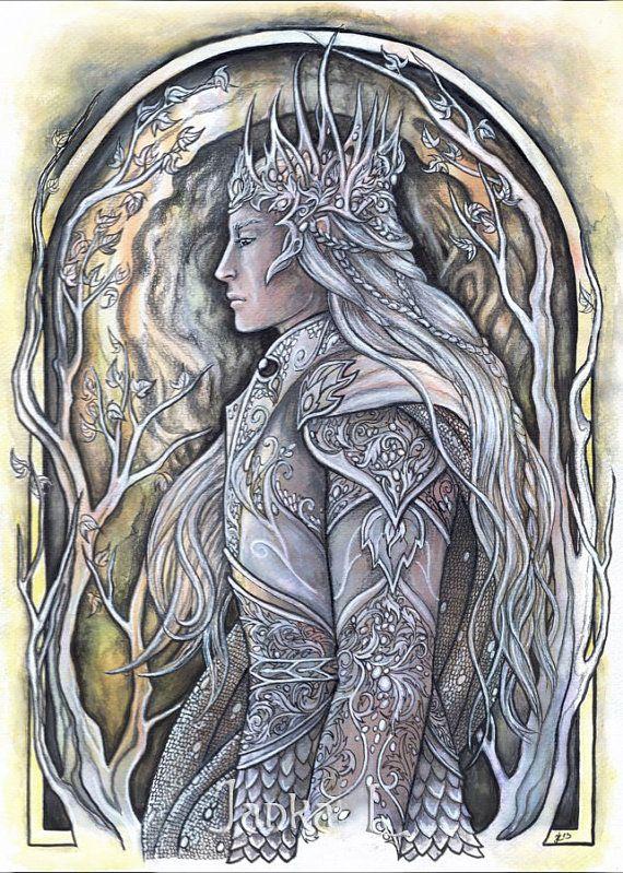 Original illustration  Elven King elven art original fantasy