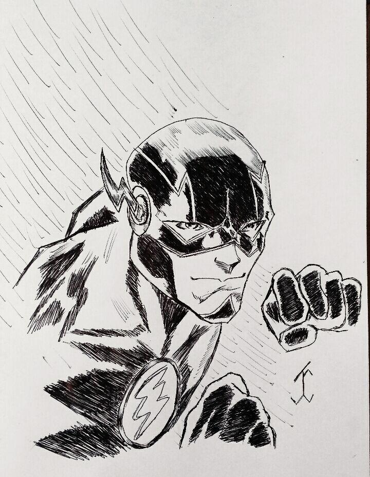 ComicFlash #flash #comic #drawing #draw #pen #art #comicdc #movie #bartallen #justiceligue