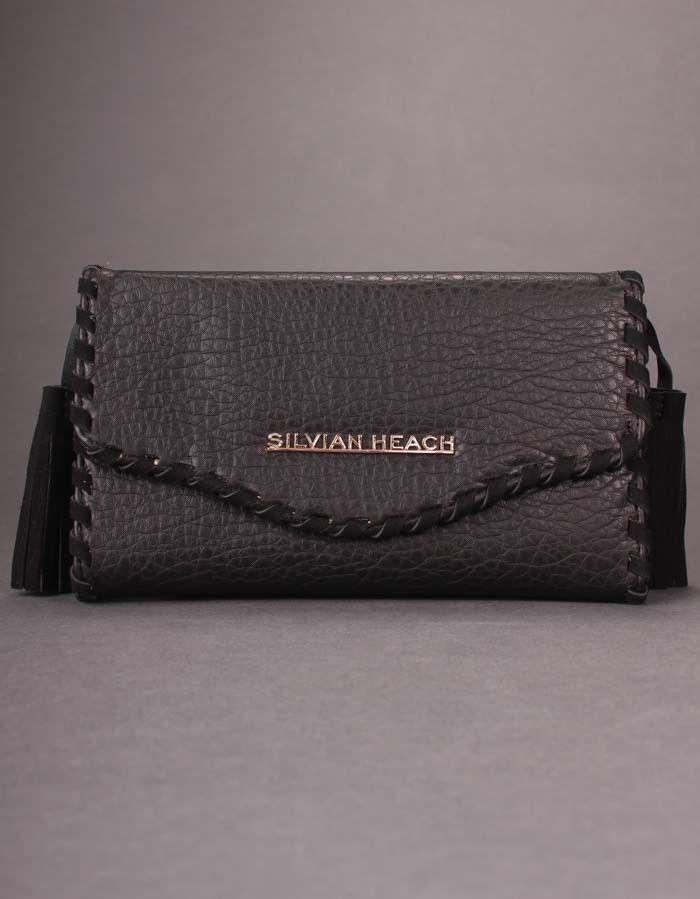 Silvian Heach Black Pagnacco Tassel Wallet | Accent Clothing