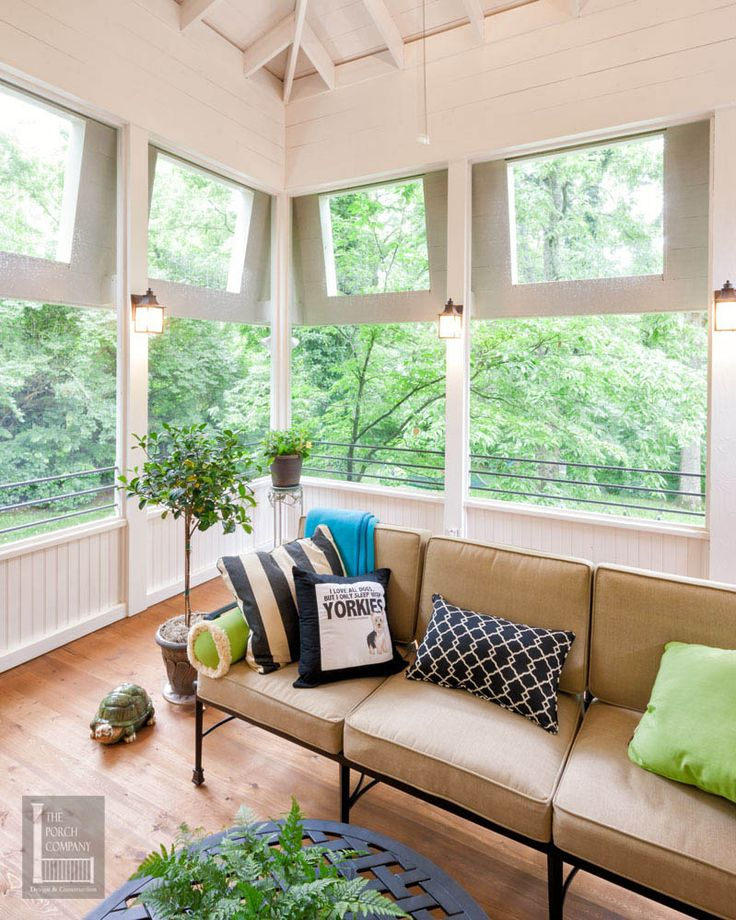 hipped roof + wainscoting side Screen Porch Pinterest
