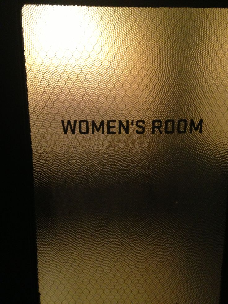 Women S Bathroom Door Old School Boston Bar Ideas