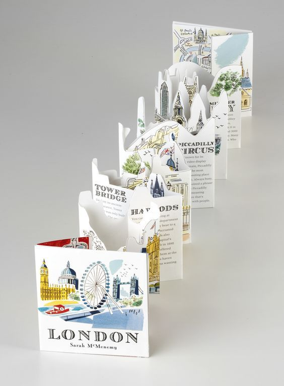 Amazing pop-up book or brochure design for a city!