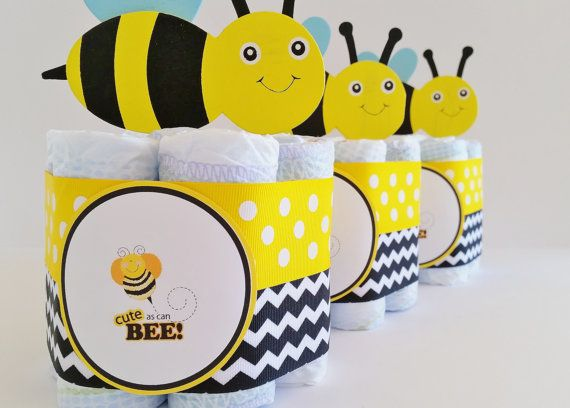 Mamá a abeja bebé ducha decoración paquete por LilLoveBugsCreations