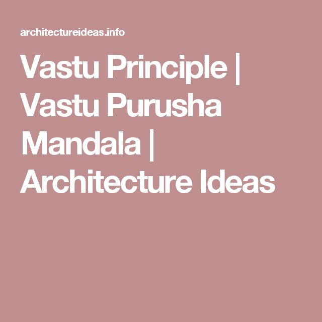 Vastu Principle | Vastu Purusha Mandala | Architecture Ideas
