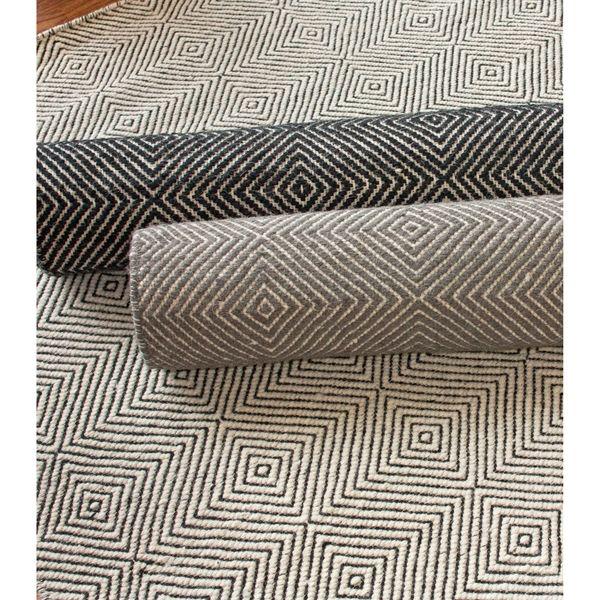 Nuloom Handmade Concentric Diamond Trellis Wool Cotton Rug