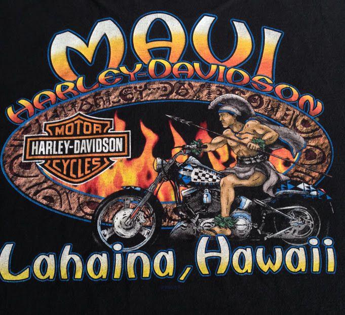 43c721f0376f HARLEY DAVIDSON T-Shirt Sz 2XL Maui Hawaii Lahaina Motorcycle Black Graphic  Top #HarleyDavidson #GraphicTee | Men's Clothing | Harley davidson  roadster, ...