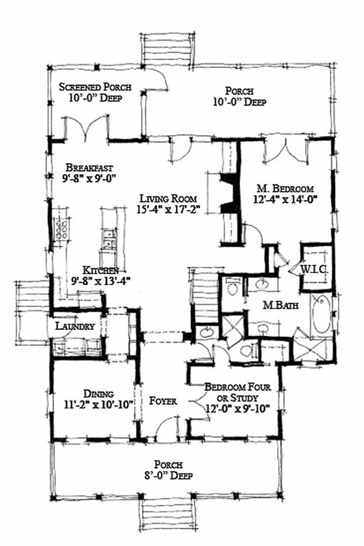 36 best Cottage Plans images on Pinterest Architecture Small