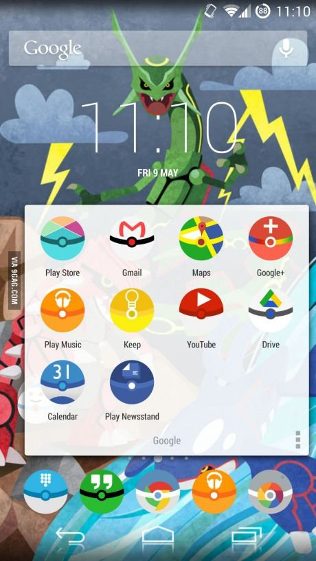 Android icon pack that changes all your icons to Pokéballs! Just in case I get an android!