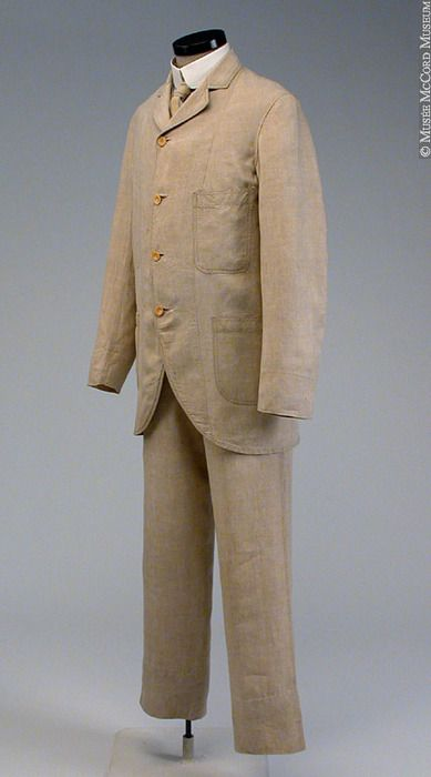 Suit, circa 1885-1900 via Musee McCord Museum