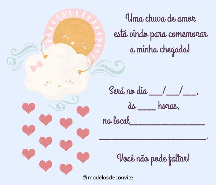 Convite Para Cha De Bebe Virtual 60 Convite Cha De Fraldas