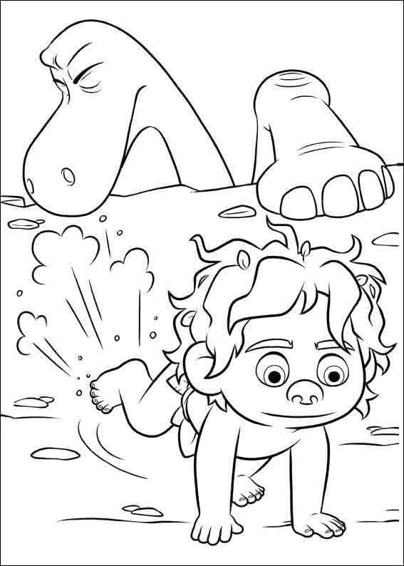 The Good Dinosaur Coloring Pages 1