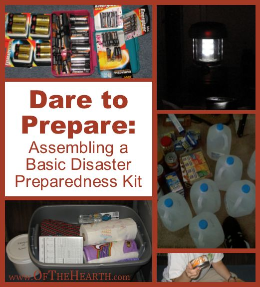 Dare to Prepare: Assembling a Basic Disaster Preparedness Kit | Once a disaster is imminent or in progress, it's too late to acquire preparedness supplies. Here's how to assemble a basic disaster preparedness kit before disaster strikes.