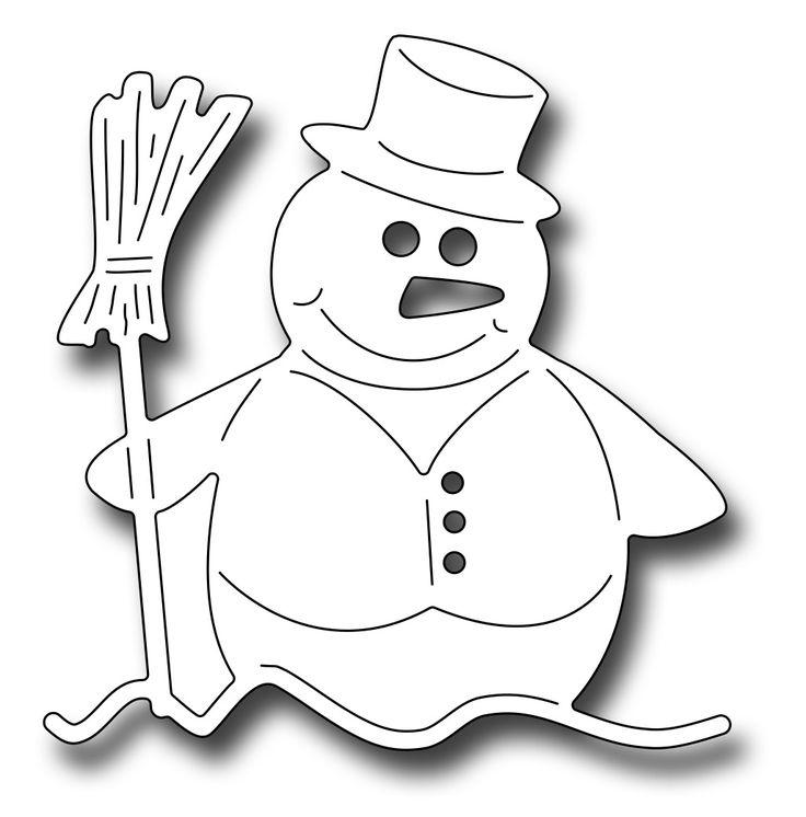 Frantic Stamper Precision Die - Edward The Snowman