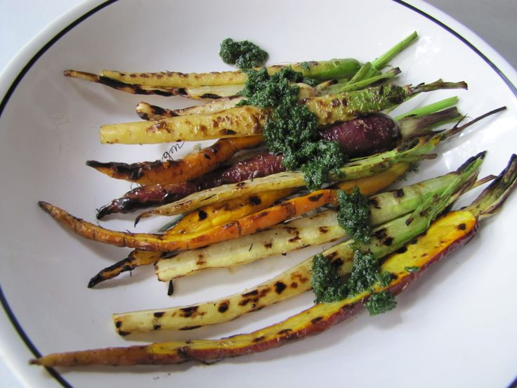 Grilled Carrots with Carrot Greens Pesto | Not Eating Out in New York