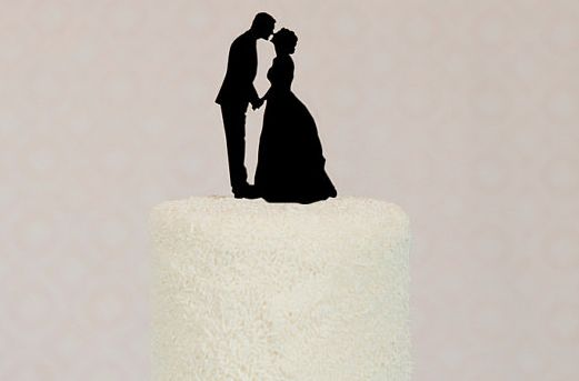 DIY Silhouette Cake Toppers By Anna Lee Company