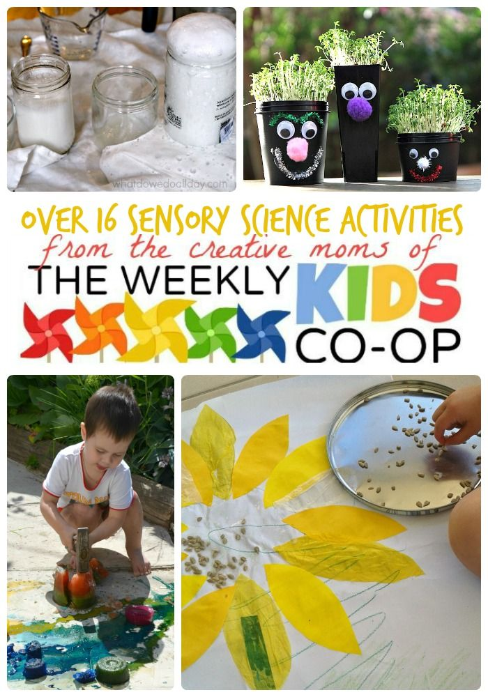 16+ Sensory Science Activities + Kids Co-Op Link Party ...