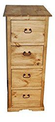 Rustic 4 Drawer File Cabinet