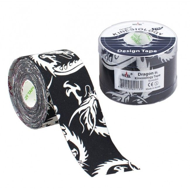Nasara Kinesiology Tape - Black Dragon