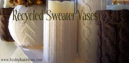 Unter dem Tisch und Träumen: Weitere recycelte Pullover-Vasen {Easy & Simple Fall De …