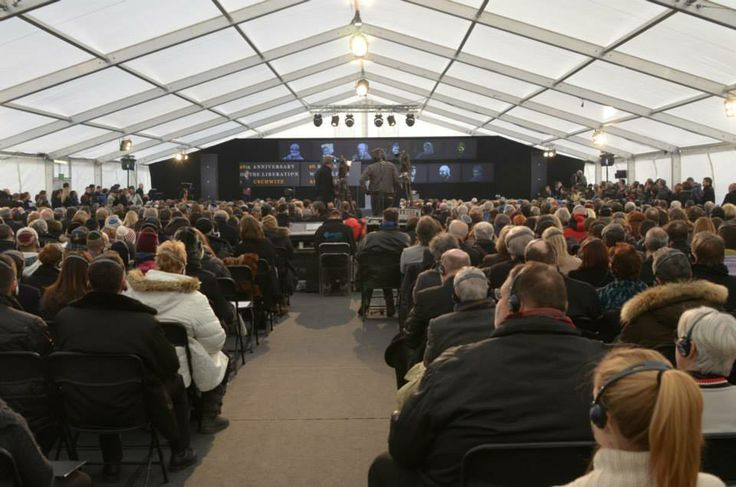 Over 1,000 people were present at the main ceremony of the anniversary of the liberation of the Auschwitz camp which took place in Birkenau.