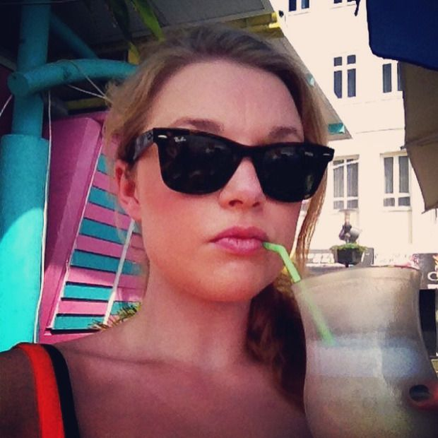 Drinking a cocktail at Willemstad Curacao
