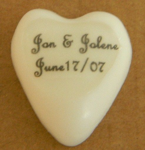 Our number one selling wedding favour.  These little hearts sure do get your message across!  Match them up with a solid coloured heart matching your colour scheme or even a lip balm with a fully personalized label!