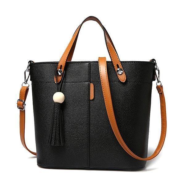 Stylish Tassel PU Leather Handbag Shoulder Bag Crossbody Bag
