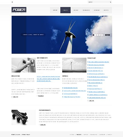 Power Energy Website Templates by Astra