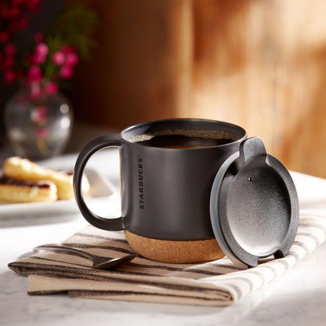 Starbucks® Cork Bottom Mug - Black, 12 fl oz