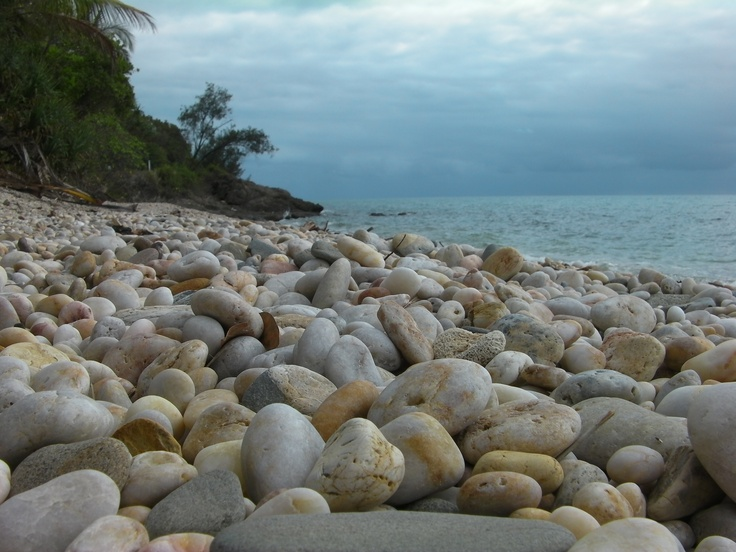 Pebble Beach Port Douglas  #PortDouglas #beach #stones #ocean