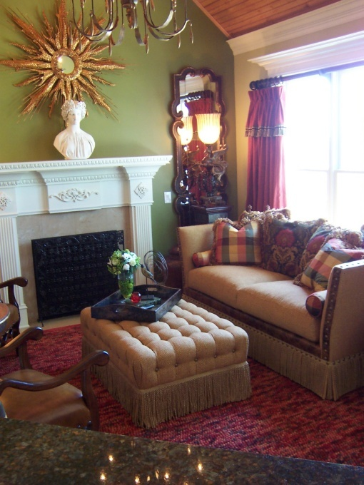 hearth room decorating ideas | GREEN HEARTH ROOM - Living Room Designs - Decorating Ideas - & 7 best Hearth Room images on Pinterest | Living rooms Family rooms ...