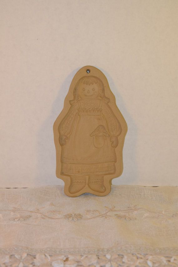 Brown Bag Cookie Art Raggedy Ann Stamp by ShellysSelectSalvage