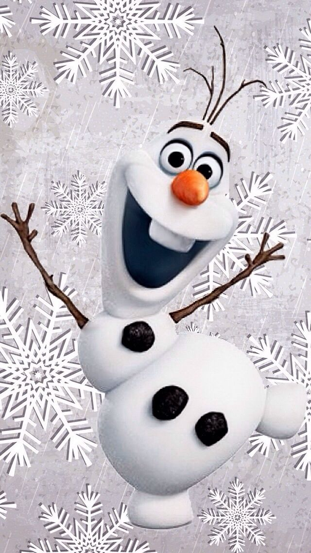 WINTER CHRISTMAS OLAF IPHONE WALLPAPER BACKGROUND