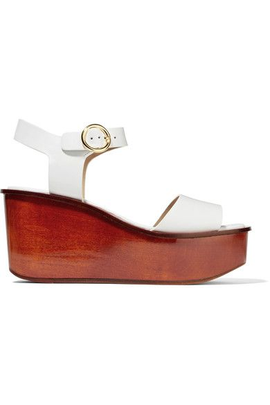 Michael Kors Collection - Bridgette Leather Platform Sandals - White - IT37.5