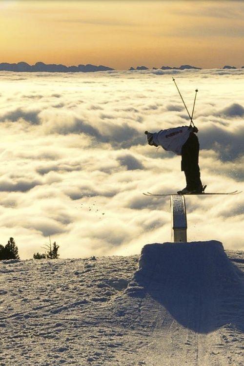 Ski Snow Cloud Freestyle IPhone Wallpaper