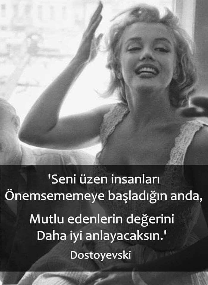 Seni üzen insanları önemsememeye başladığın anda mutlu edenlerin değerini daha iyi anlayacaksın... - Dostoyevski